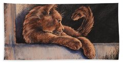 Bath Towel featuring the painting Catching The Last Rays by Cynthia House