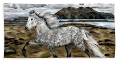 Charismatic Icelandic Horse Hand Towel by Shari Nees