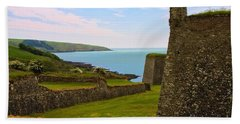 Bath Towel featuring the photograph Charles Fort Kinsale by Jeremy Hayden