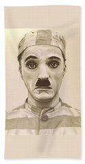 Vintage Charlie Chaplin Hand Towel by Fred Larucci