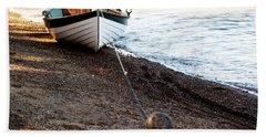 China Beach Rowboat Bath Towel