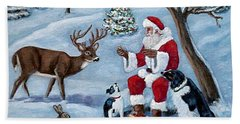 Hand Towel featuring the painting Christmas Treats by Fran Brooks