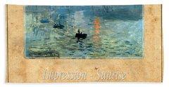 Claude Monet 2 Bath Towel