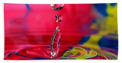 Bath Towel featuring the photograph Colorful Water Drop by Peter Lakomy