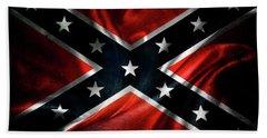Confederate Flag Bath Towel by Les Cunliffe
