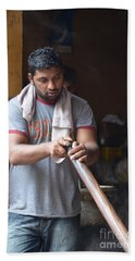 Bath Towel featuring the photograph Cooking Breakfast Early Morning Lahore Pakistan by Imran Ahmed