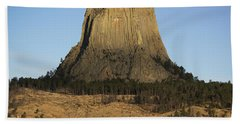 Devils Tower National Monument Wyoming Bath Towel