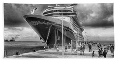 Bath Towel featuring the photograph Disney Fantasy by Howard Salmon