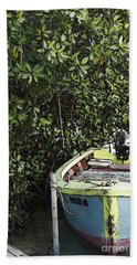 Bath Towel featuring the photograph Docked By The Mangrove Trees by Lilliana Mendez