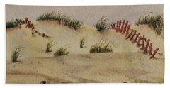 Bath Towel featuring the painting Dunes by Mary Ellen Mueller Legault