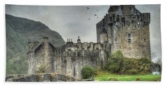 Eilean Donan Castle Bath Towel by Juli Scalzi