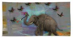 Elephant Painting Hand Towel