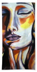 Hand Towel featuring the painting Emotion by Helena Wierzbicki
