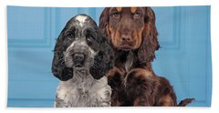 English Cocker Spaniel Puppies Bath Towel