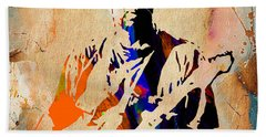 Eric Clapton Collection Hand Towel by Marvin Blaine