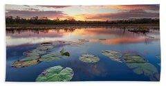 Everglades At Sunset Bath Towel