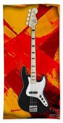 Fender Bass Guitar Collection Hand Towel