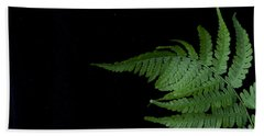 Hand Towel featuring the photograph Fern II by Alana Ranney