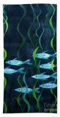 Fish Bath Towel by Barbara Moignard