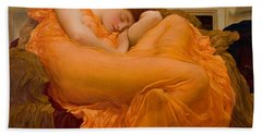 Flaming June Bath Towel by Frederick Leighton