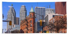 Flatiron Building In Toronto Hand Towel