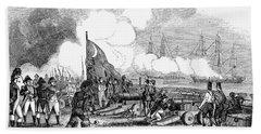 Fort Sullivan Battle, 1776 Hand Towel