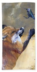 Fox Dances For Hummingbird Hand Towel