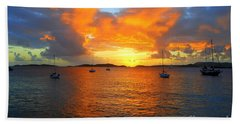 Frank Bay St. John U. S. Virgin Islands Sunset Bath Towel