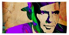 Frank Sinatra Painting Hand Towel