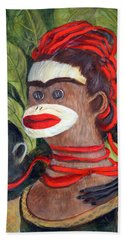 With Love To The Artist Frida Kahlo Bath Towel by Randy Burns