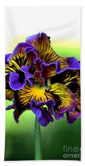 Frilly Pansy Bath Towel