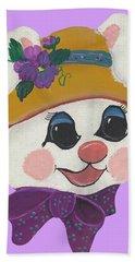 Funny Bunny Hand Towel by Barbara McDevitt
