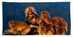Gelada Baboons Bath Towel