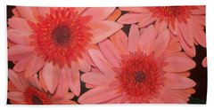 Hand Towel featuring the painting Gerber Daisies by Sharon Duguay