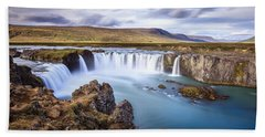 Godafoss Waterfall Bath Towel