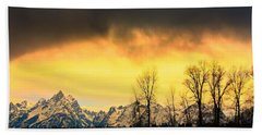 Bath Towel featuring the photograph Grand Tetons Wyoming by Amanda Stadther