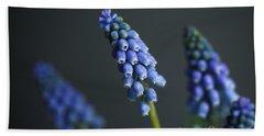 Grape Hyacinth Hand Towel by Nailia Schwarz