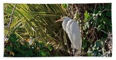 Bath Towel featuring the photograph Great Egret by Kate Brown