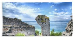 Grotto Catullus In Sirmione At The Lake Garda Hand Towel