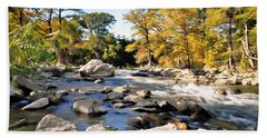 Hand Towel featuring the photograph Guadalupe River  by Savannah Gibbs