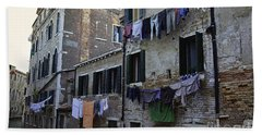 Hanging Out To Dry In Venice Hand Towel by Madeline Ellis