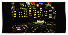 Bath Towel featuring the painting Harbour Lights by Leanne Seymour