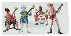 Sixties And Seventies Musicians Bath Towel