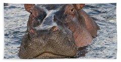 Hippopotamus Hand Towel