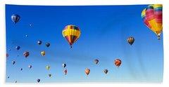 Hot Air Balloons Floating In Sky Bath Towel