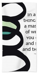 In All Things Hand Towel by Linda Woods