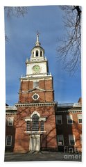 Independence Hall In Philadelphia Hand Towel