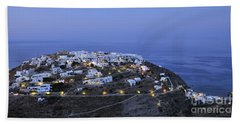 Kastro Village In Sifnos Island Bath Towel