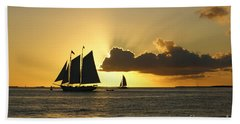 Hand Towel featuring the photograph Key West Sunset by Olga Hamilton