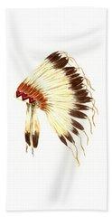 Lakota Headdress Hand Towel